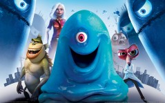 С 3D героями игры Monsters vs Aliens / 1920x1200