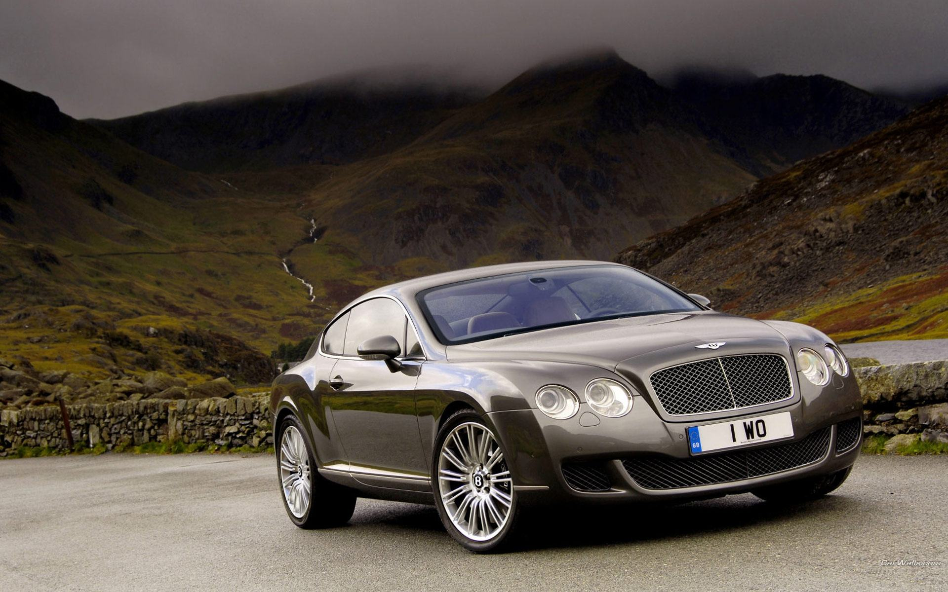 Обои Серый Bentley Continental GT 1920x1200