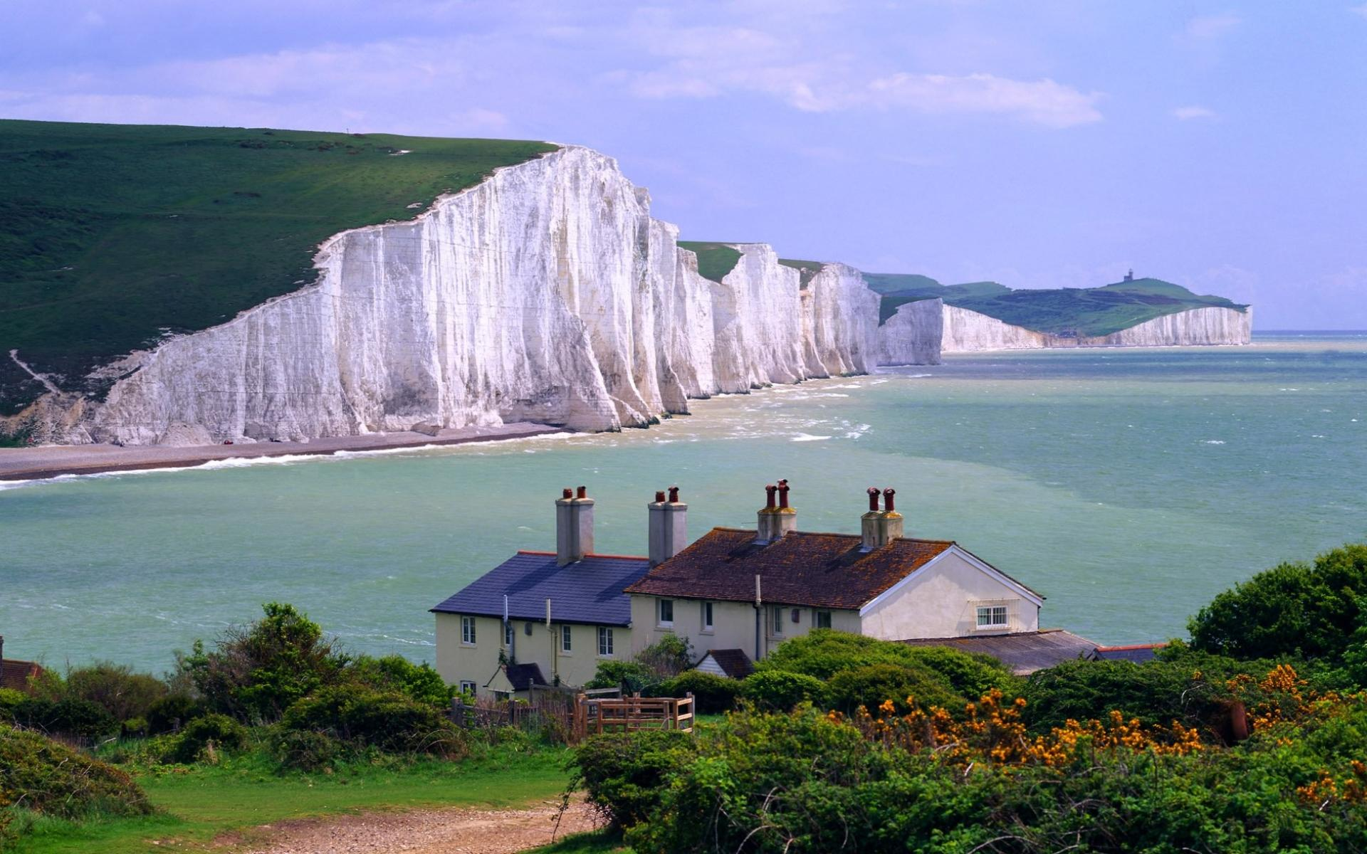 Обои Seven Sisters Cliffs, East Sussex, England 1920x1200