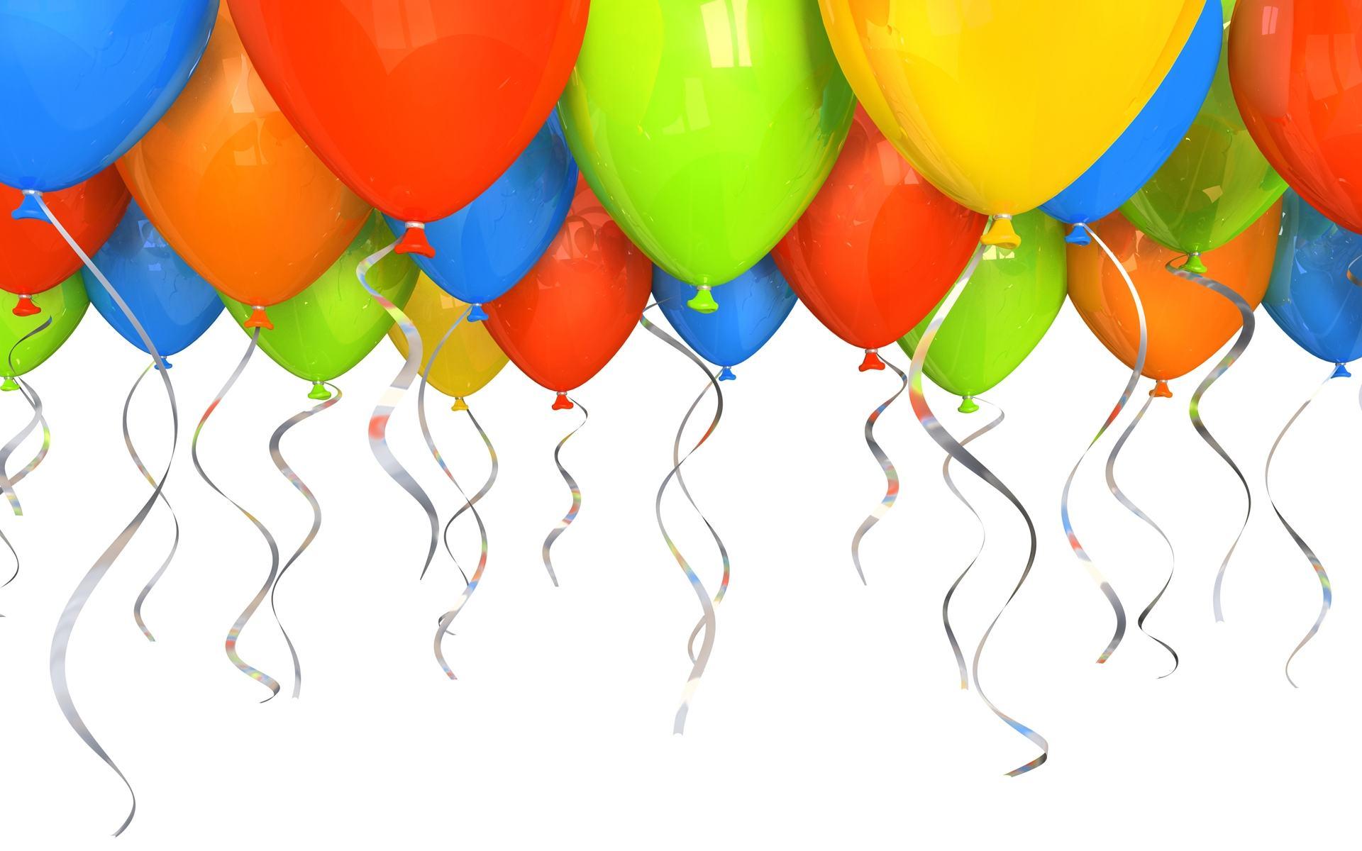 Скачать обои шарики на день рождения