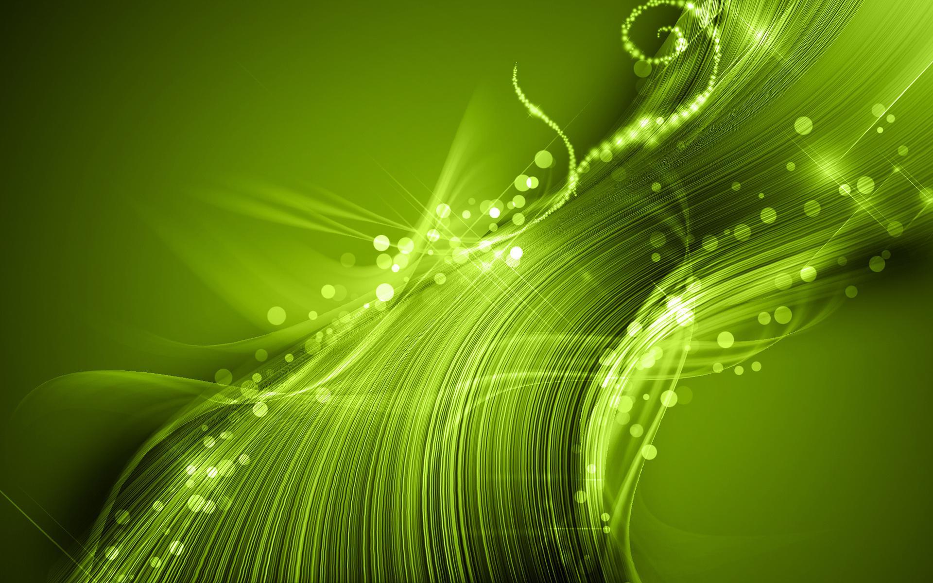 Симпатичная зеленая абстракция 1920x1200