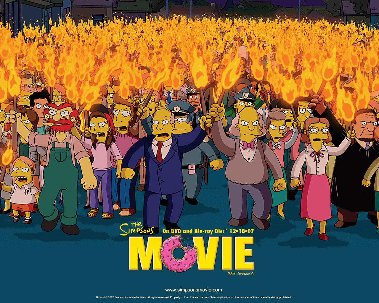 Обои Simpsons the Movie 1280x1024