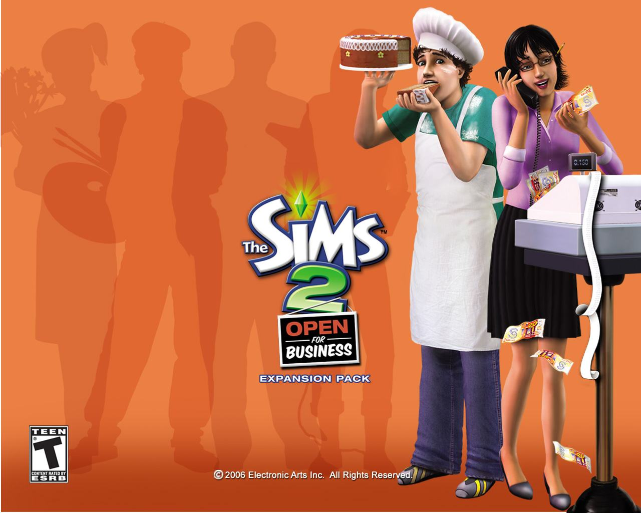 Обои Sims 2: Open for Business 1280x1024