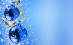 Синие новогодние шары новогодние на