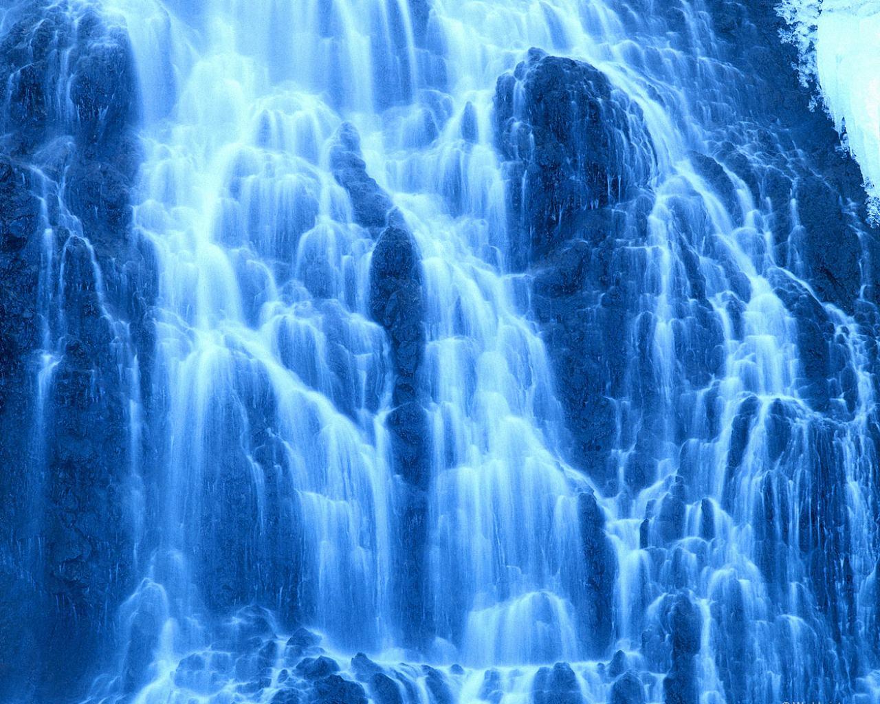 Синий водопад скачать водопад 1280x1024
