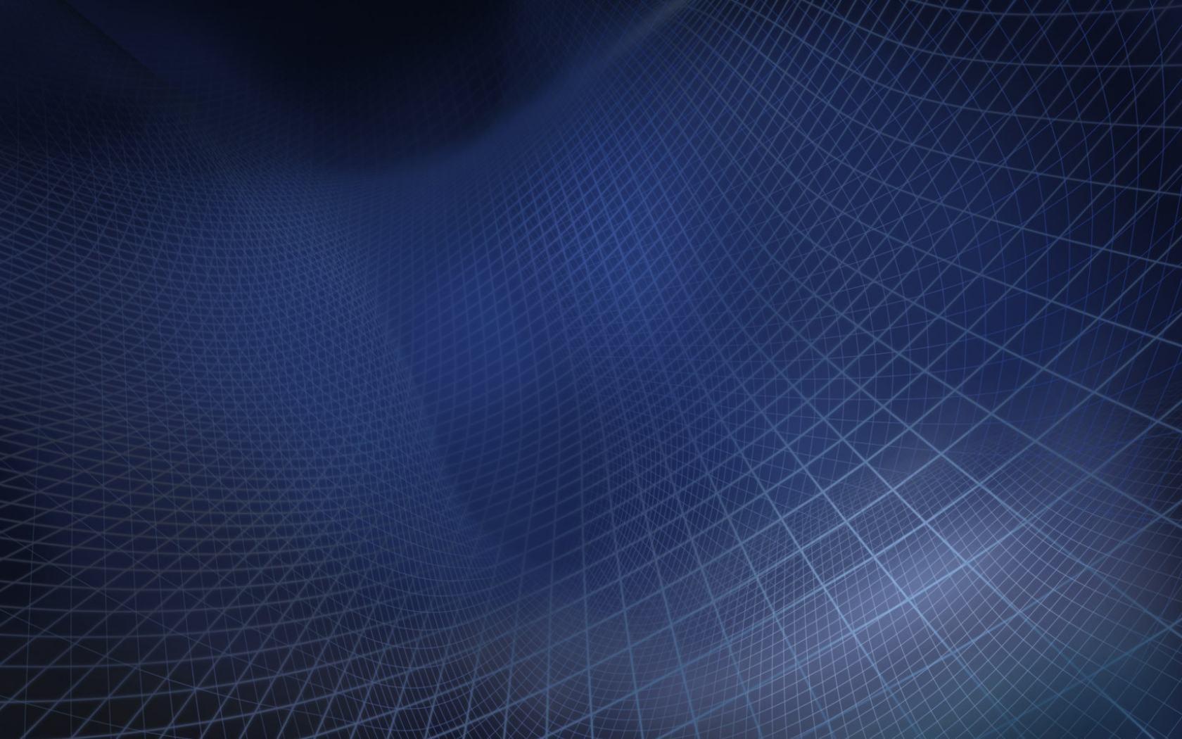 Синяя клетка абстрактные обои 1680x1050