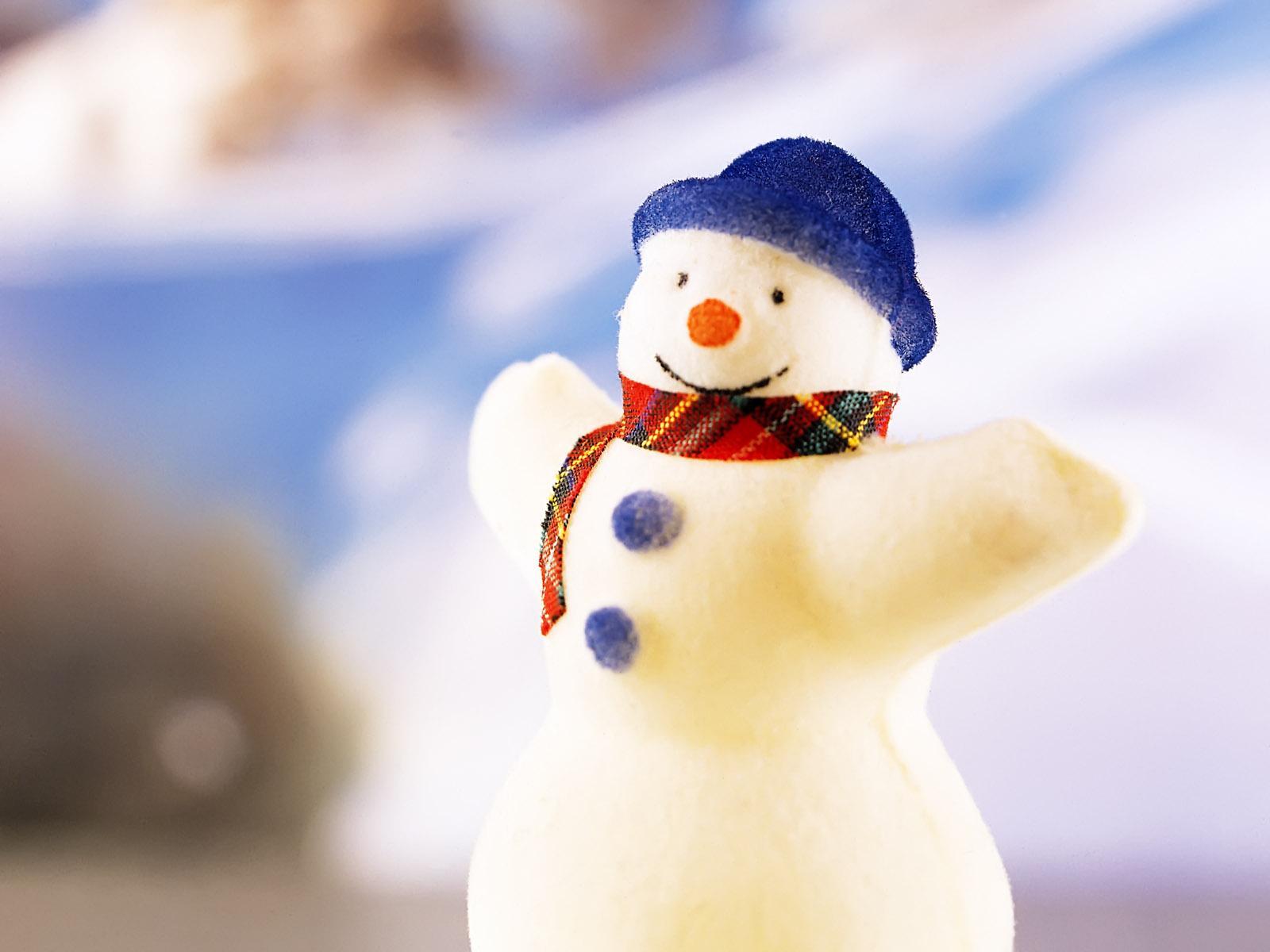 Смешной снеговик / Рождество обои 1600x1200.