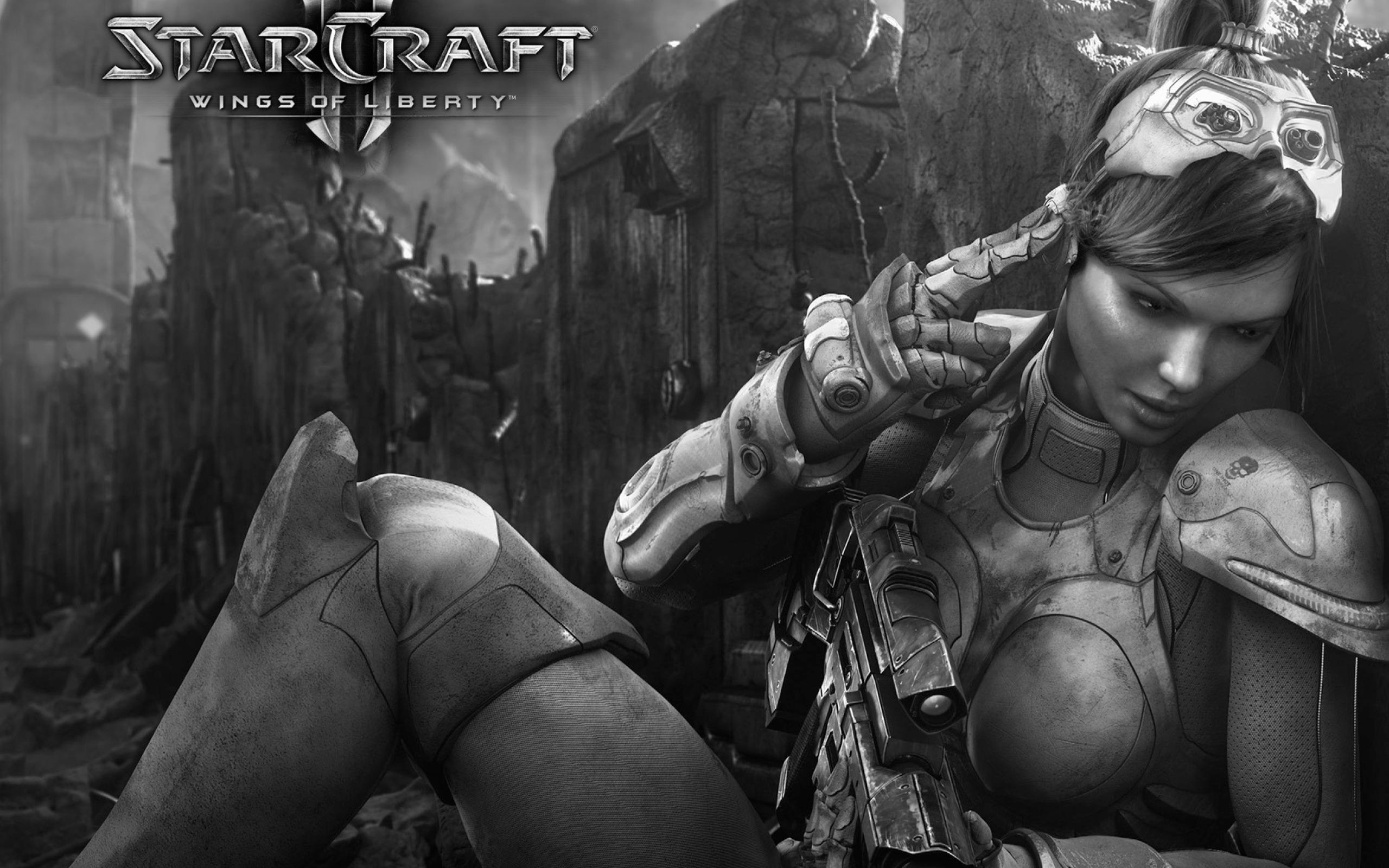 Обои Starcraft Wings Liberty 2560x1600