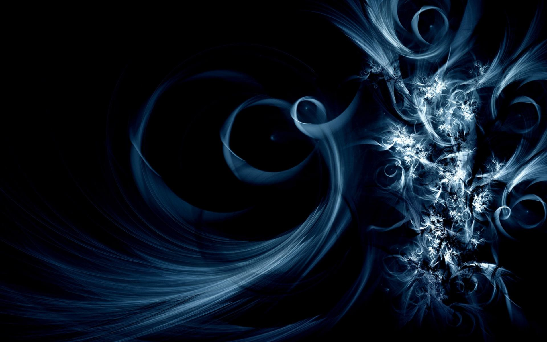 Обои Swirly Blue Abstract 1920x1200