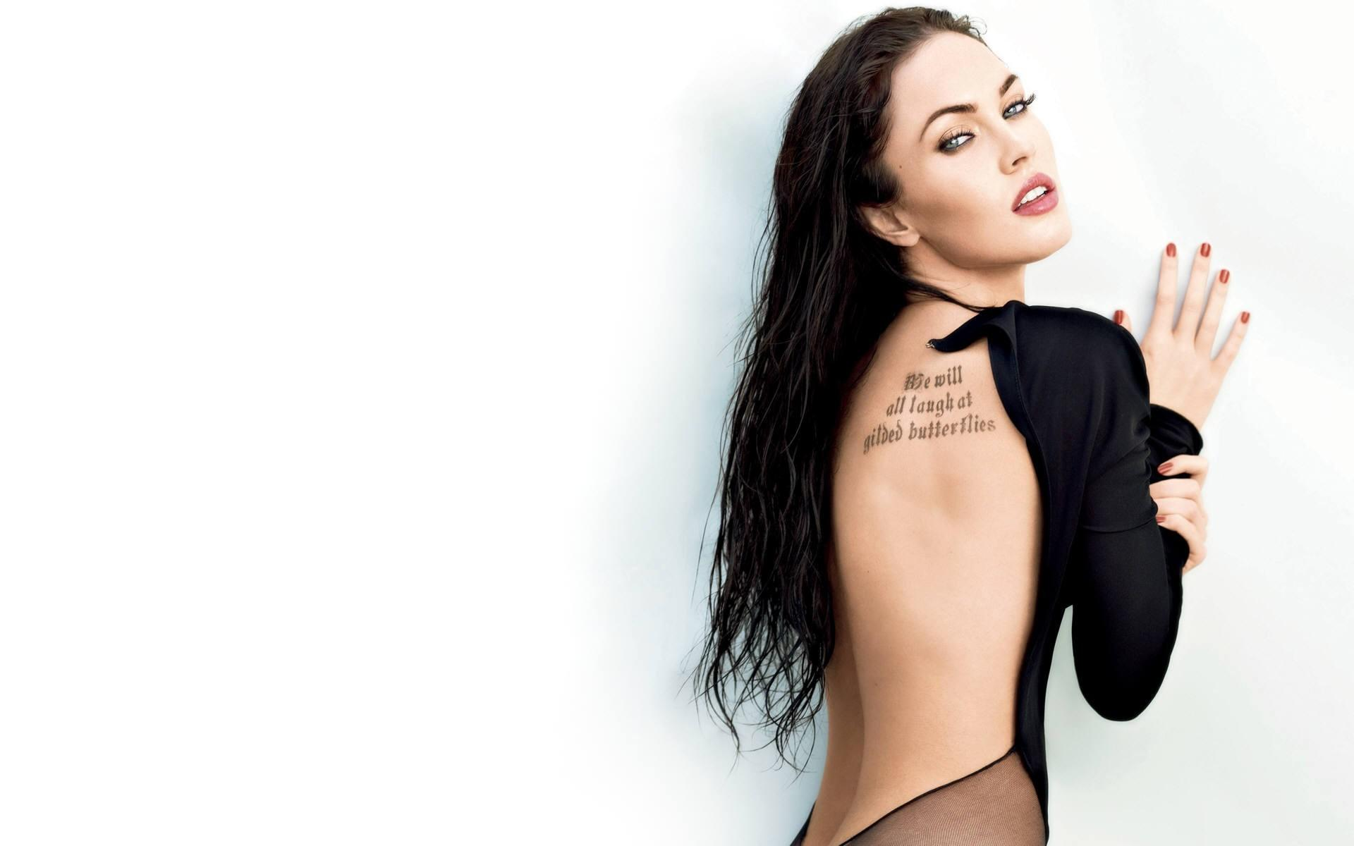 Обои Tattoo Megan Fox 1920x1200