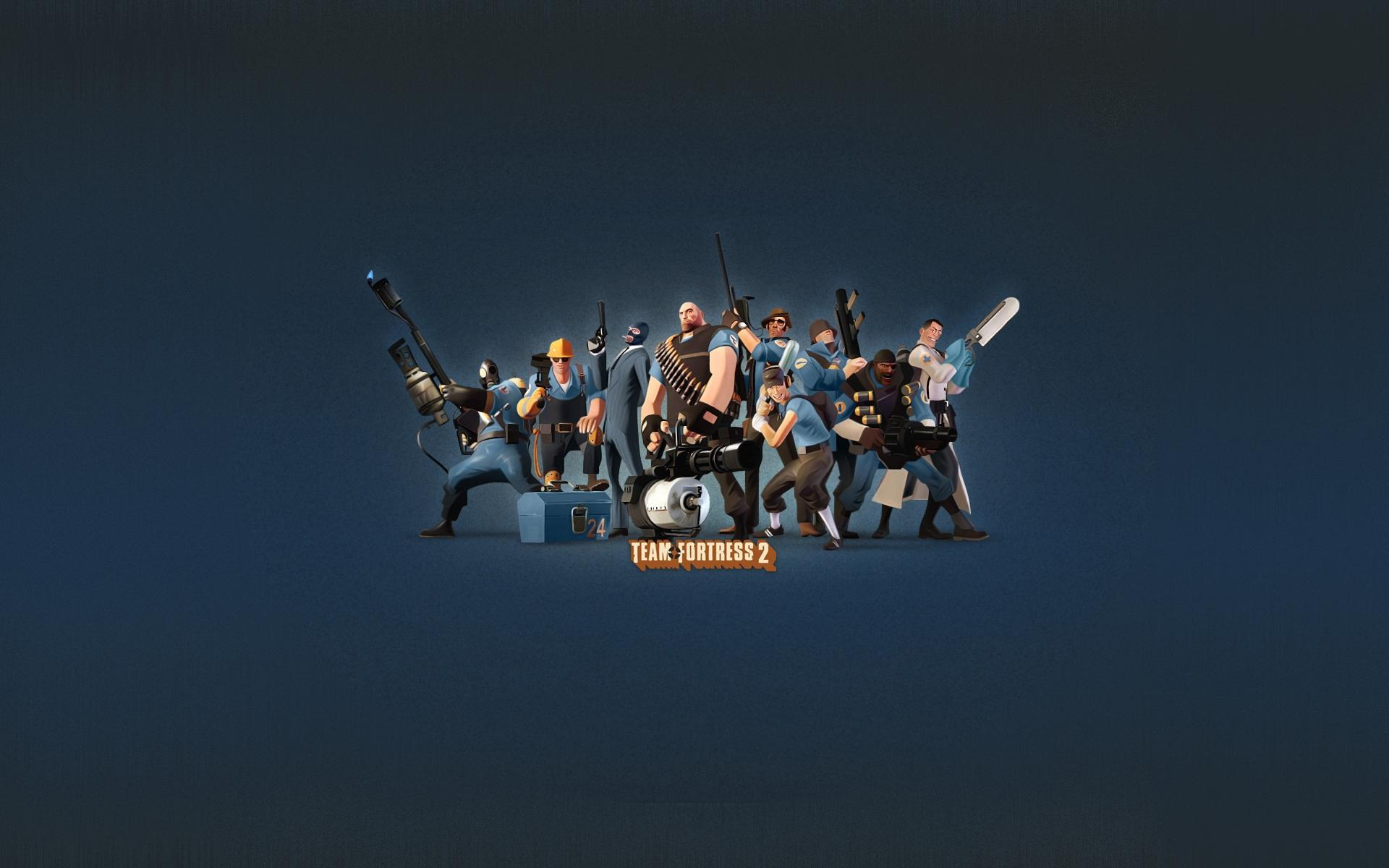 Обои Team Fortress 2 - вся команда 1920x1200
