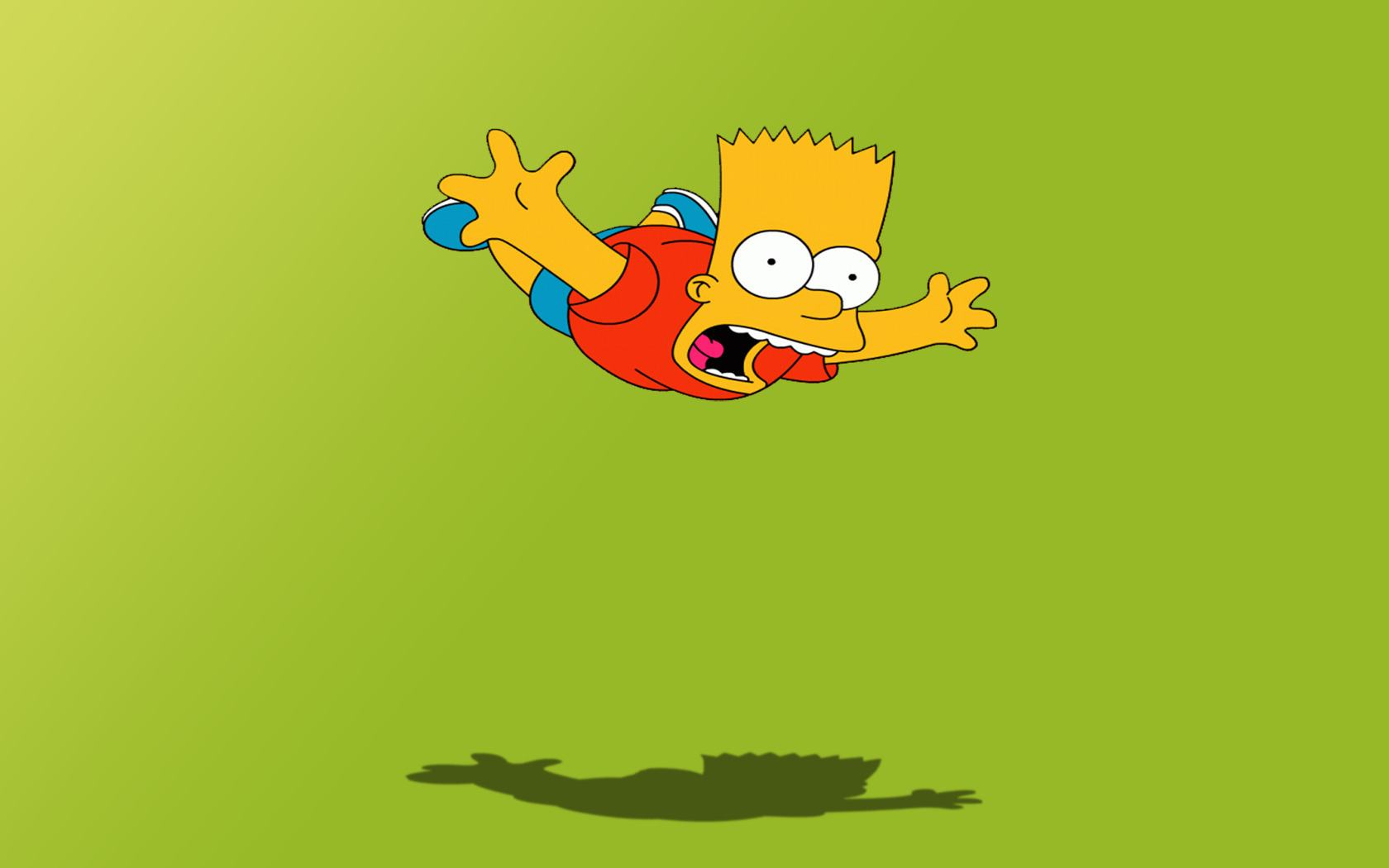 Обои The simpsons, bart 1680x1050