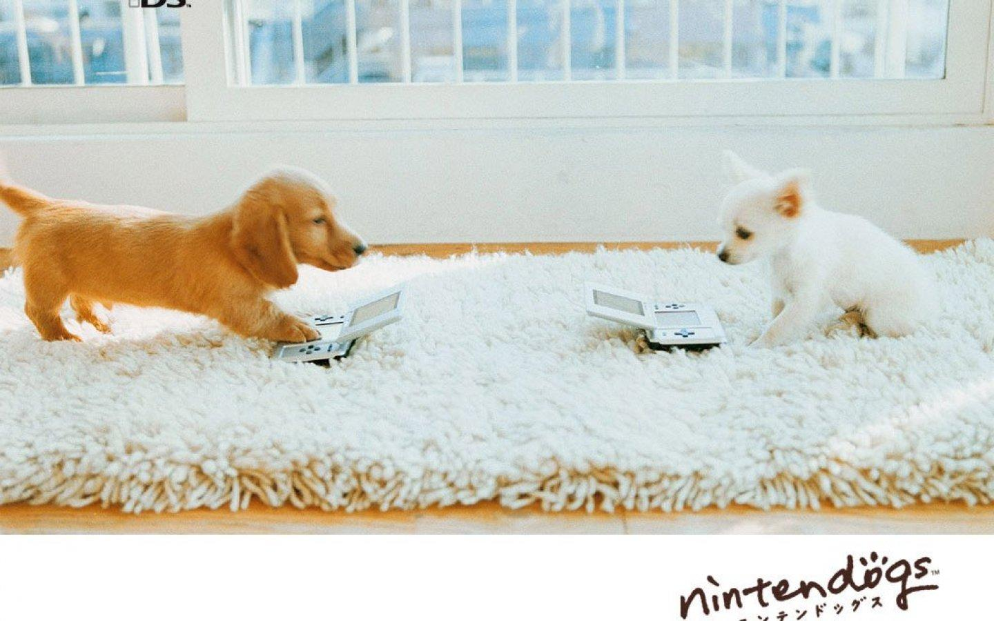 Обои Two nintendo dogs 1440x900