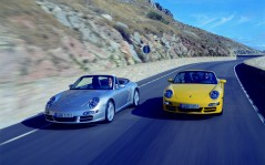 Two Porsche Carrera / 1600x1200