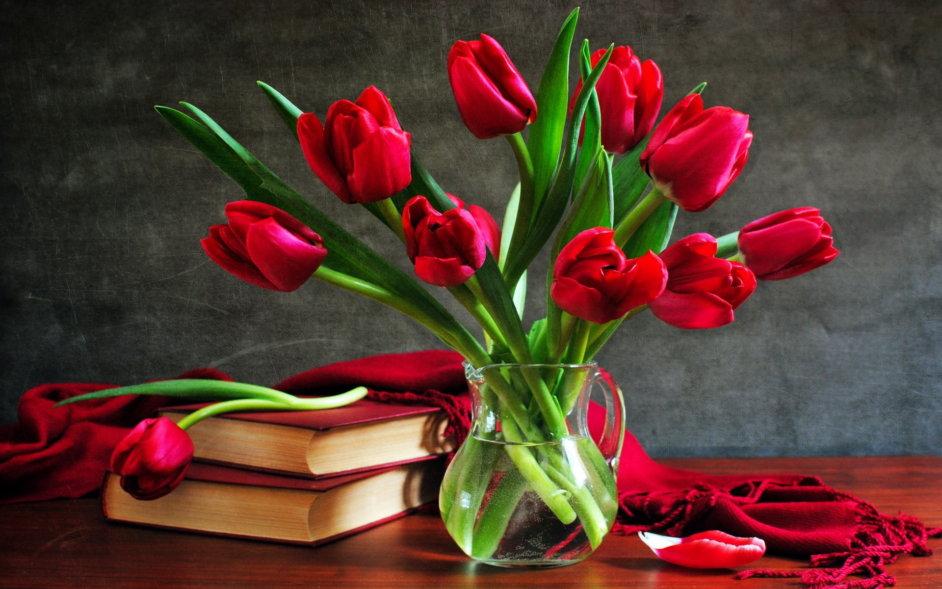 Обои тюльпаны для дорогой ольги 1920x1200