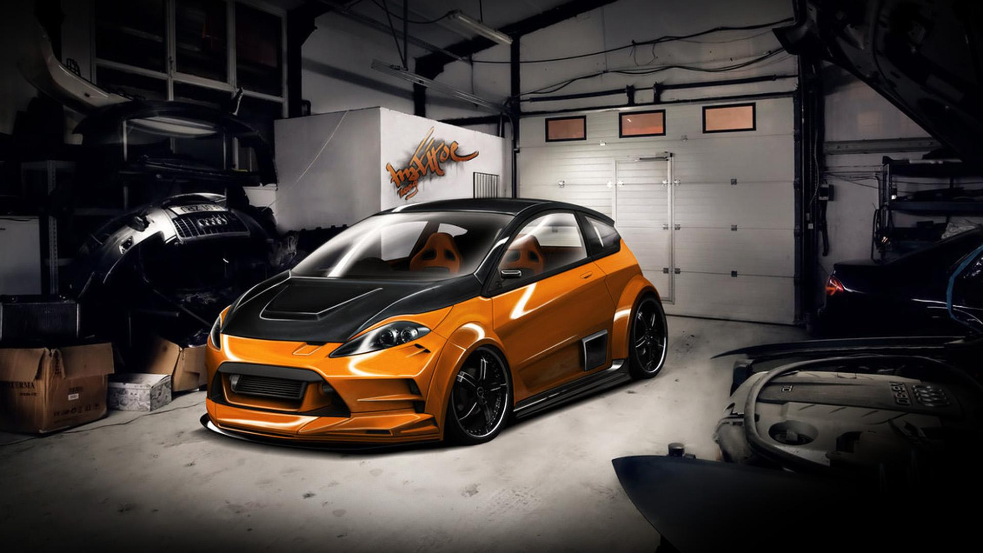 ���� ������������� Ford Fiesta RS � ������ 1920x1080