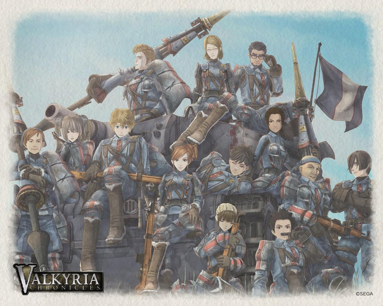 Обои Valkyria Chronicles 1280x1024