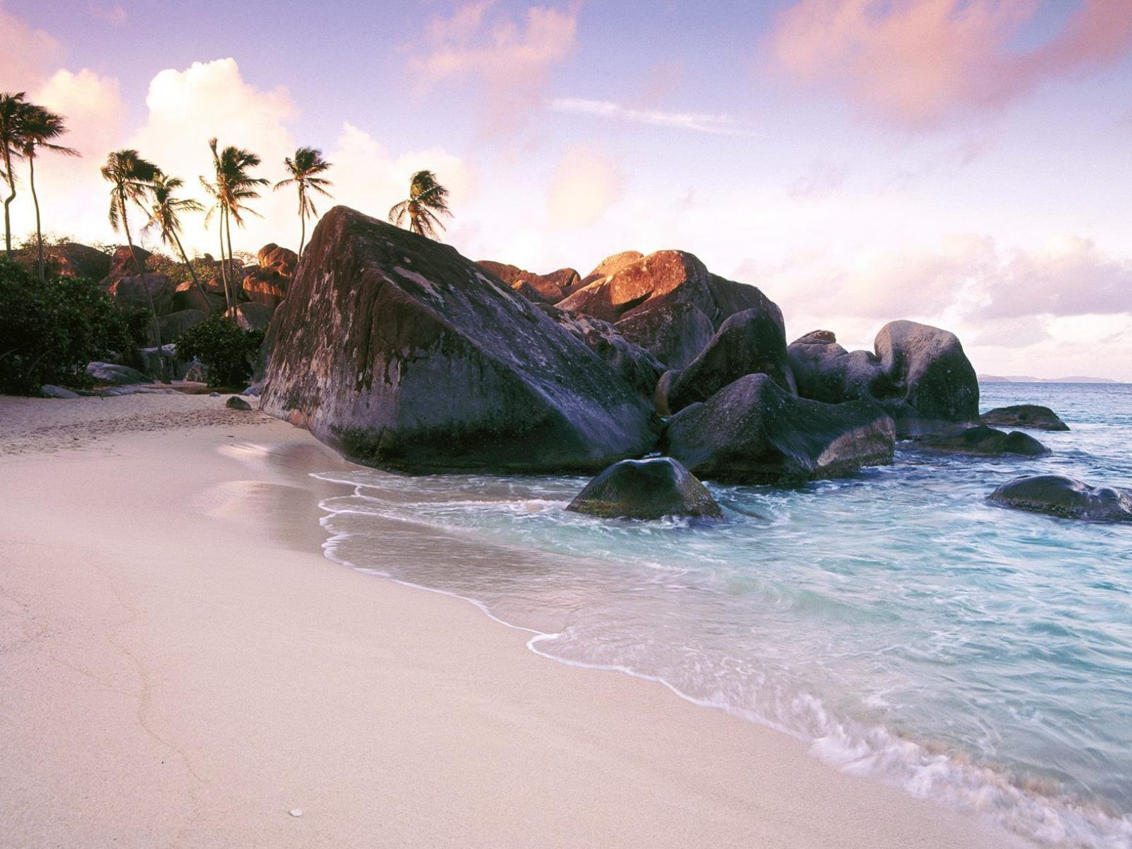 Обои Virgin Gorda Island at Sunset, British Virgin Islands, West Indies 1600x1200