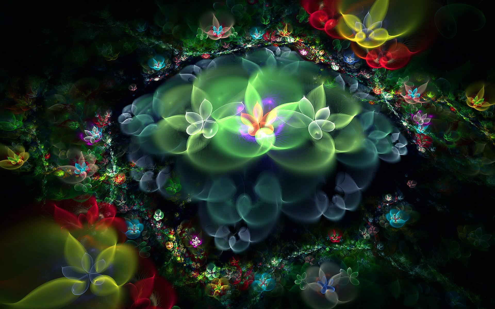 Цветы цветочная абстракция 1920x1200