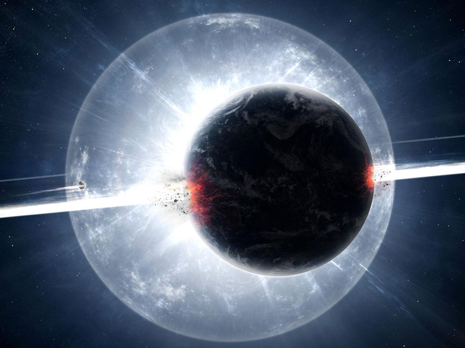 Космос взрыв планеты в космосе космос