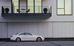 White Mercedes-Benz CL 600 / 1600x1200