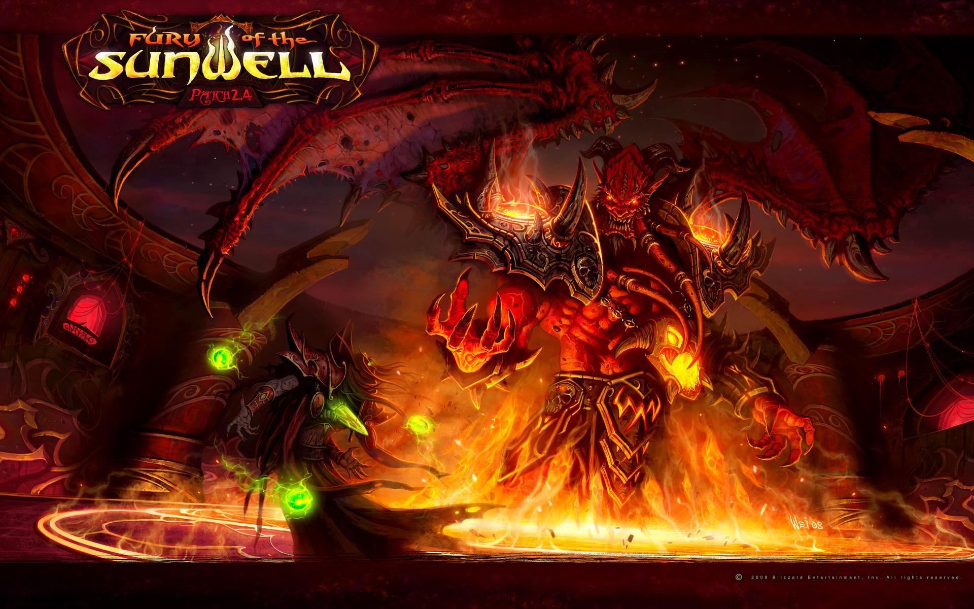 Обои World of Warcraft: Fury of the sunwell 1920x1200