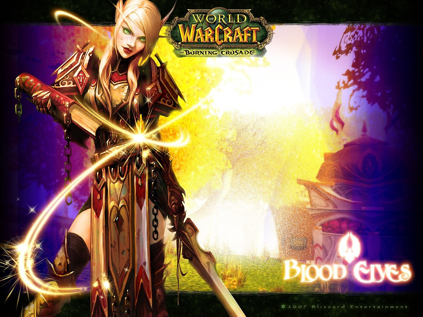 Обои World of Warcraft: The Butning Crusades (Blood Elves) 1600x1200