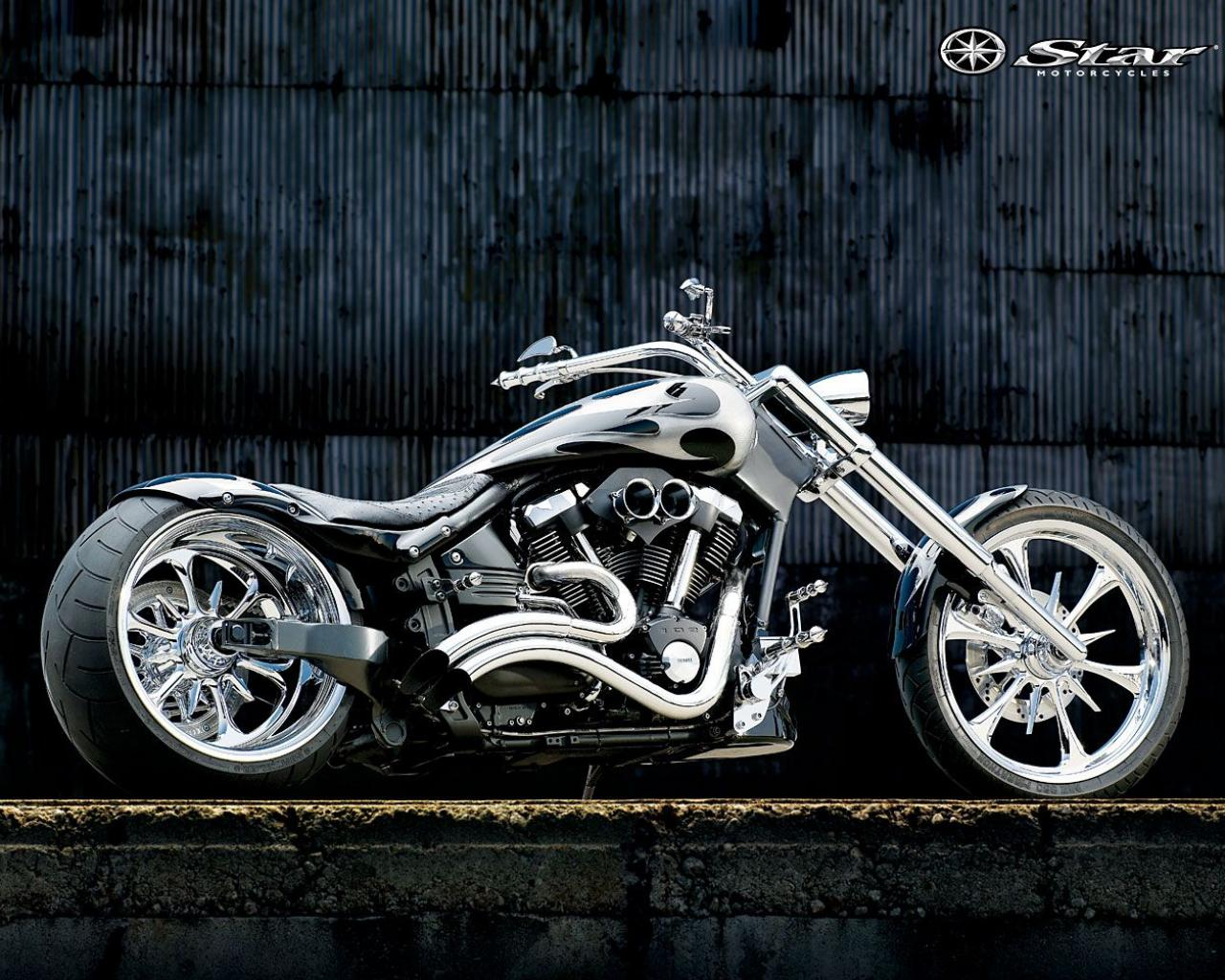 Обои Yamaha Chopper Chrome 1280x1024