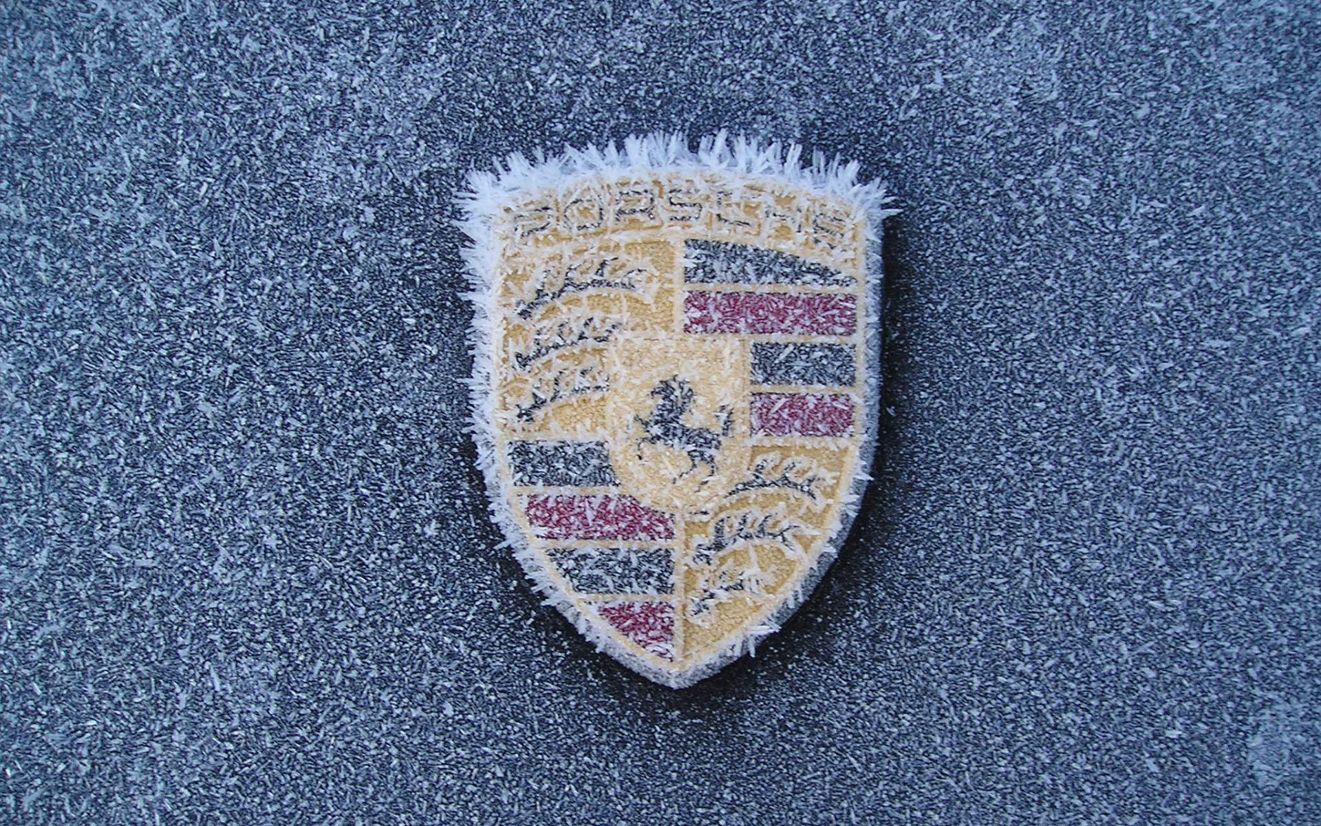 логотип porsche фото замёрзшие