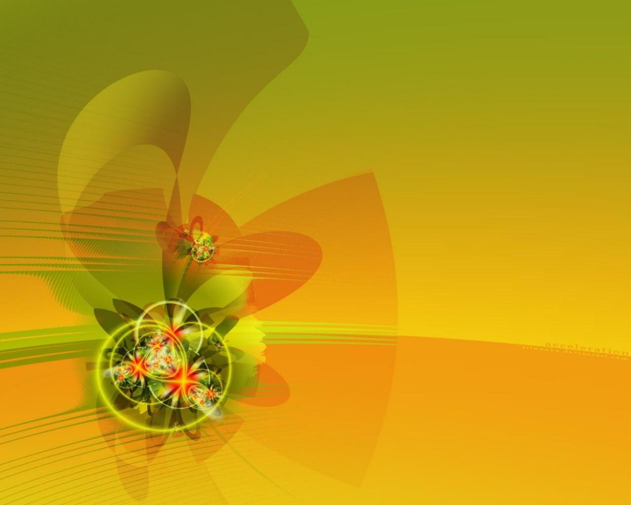 Желто зеленая абстракция на рабочий