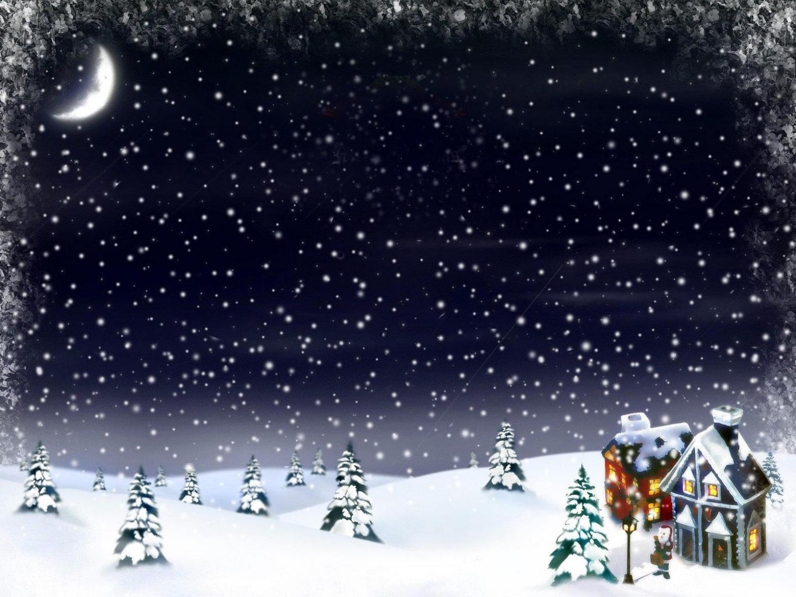 Зима и новый год на рабочий стол 1600x1200